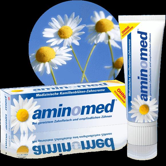 Aminomed - natürliche Kamillenblüten-Zahncreme